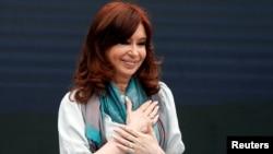 La expresidente de Argentina Cristina Fernandez de Kirchner asiste al Foro de Pensamiento Crítico en Buenos Aires el lunes, 19 de noviembre de 2018.