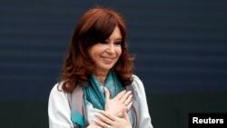 La expresidenta argentina Cristina Fernández de Kirchner asiste a una reunión del Foro Mundial de Pensamiento Crítico en Buenos Aires, Argentina. Foto de archivo.