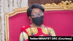Marie Ntumba Nzeza ministre ya mambi ma bikolo bya bapaya ya RDC, na Kinshasa, 6 aout 2020. (Twitter/MINAFET RDC)