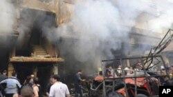 Un coche bomba estalló en Damasco y causó la muerte al menos a 10 personas e hirió a unas 40.