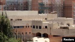 FILE - The U.S. Embassy in Sanaa.