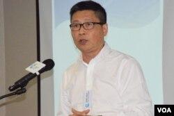 香港中文大學社會系副教授陳健民。(美國之音湯惠芸攝)