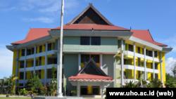Gedung Universitas Halu Oleo (UHO) di Kendari, Sulawesi Tenggara. (Foto: www.uho.ac.id)