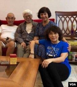 Từ trái : Nguyễn Thanh Bình, Trần Đĩnh, Nguyễn Thị Hậu và Hồng Ánh.