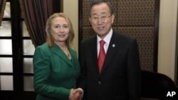 Хиллари Клинтон и Пан Ги Мун