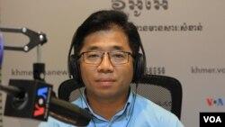 Nop Vy, direktur eksekutif CamboJA memberikan pernyataan kepada VOA (foto: dok).