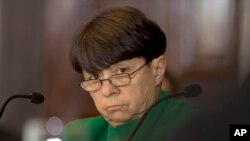 Securities and Exchange Commission Chair Mary Jo White at meeting of the Financial Stability Oversight Council, Washington, April 25, 2013.