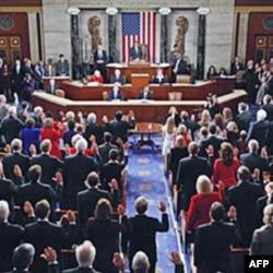 Članovi Predstavničkog doma polažu zakletvu na prvoj sednici 112. sastava Kongresa na Kapitol Hilu, 5. januara 2010.