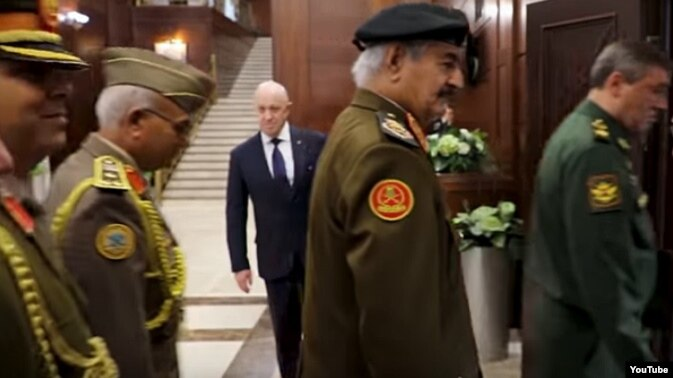 Report: Russian Charged by US Seen at Libya Military Meeting