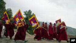 Демонстрации протеста против репрессивной китайской политики в Тибете. Дармсала, Индия. 10 марта 2013 года