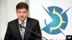 FILE - Slovakian Foreign Minister Miroslav Lajcak speaks during a security conference in Budapest, Hungary, Feb. 25, 2016. Lajack is also president of the current session of the U.N. General Assembly.