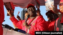 Former Prime Minister Morgan Tsvangirai and his deputy, Thokozani Khuphe, have been retained by party supporters. (File Photo)