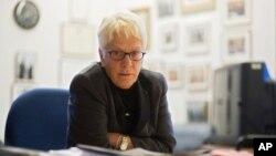 Ủy viên của Ủy ban Quốc tế Độc lập Điều tra về Syria Carla Del Ponte..