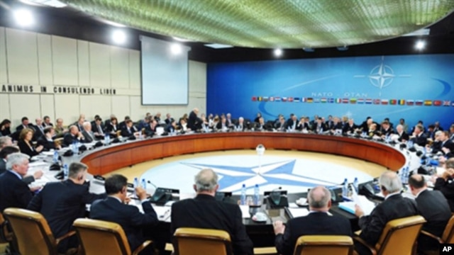 NATO defense ministers meeting at the NATO headquarters in Brussels, March 10, 2011