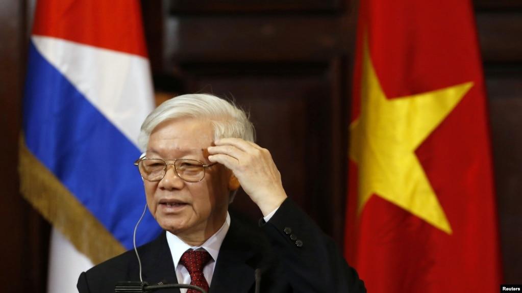 Ông Trọng trong chuyến thăm Cuba ngày 29 tháng Ba, 2018.