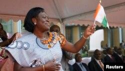 Simone Gbagbo, l'épouse de l'encien président ivoirien Laurent Gabgbo emprisonné à la Cour Pénale de La Haye pour crime des guerres postélectroale de 2011.