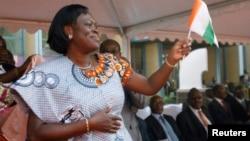 코트디부아르의 로랑 그바그보 전 대통령 부인 시몬 그바그보. (자료사진)