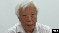 台湾民间司法改革基金会董事长 瞿海源(美国之音张永泰拍摄)