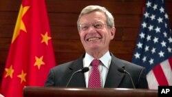 Duta Besar Amerika untuk China Max Baucus (foto: dok).