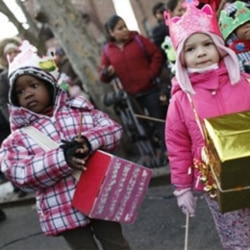 New York preschoolers take part this month in a Three Kings Day parade marking the most festive day of the Christmas season in Latin American culture