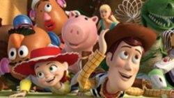 """Karakter-karakter dalam film animasi waralaba """"Toy Story""""."""
