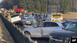 Car accident involving at least 63 vehicles leaves dozens hurt in Williamsburg, Va.