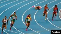 Para atlet puteri berlomba dalam kejuaraan dunia atletik di Moskow bulan lalu (foto: dok).