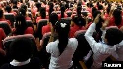한국의 북한이탈주민 정착 지원 시설인 '하나원'에서 탈북자들이 교육을 받고 있다. (자료사진)