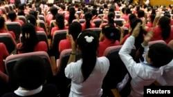 한국의 북한이탈주민 정착 지원 시설인 '하나원'에서 탈북민들이 교육을 받고 있다. (자료사진)