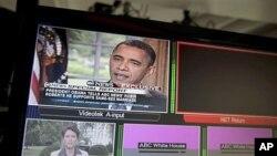 Prezidan Barack Obama nan entèvyou li bay chèn televizyon ABC sou maryaj ant 2 moun menm sèks - 9 me 2012.