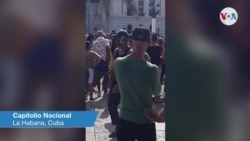 Protestas frente al Capitolio de la Habana