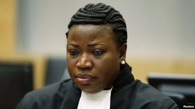 ICC Chief Prosecutor Fatou Bensouda in the courtroom, The Hague, July 10, 2012.