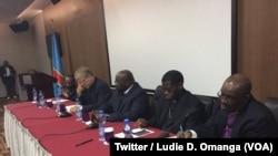 Une délégation du Conseil œcuménique des Églises (COE) rencontre des politiciens congolais à Kinshasa, RDC, le 21 août 2018. (Twitter/Ludie D. Omanga)