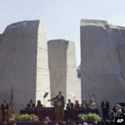 ប្រធានាធិបតីបារ៉ាក់ អូបាម៉ាថ្លែងនៅក្នុងការឧទ្ទិសដល់សំណង់អនុស្សាវរីយ៍ជាតិមួយជូនលោក Martin Luther King Jr។