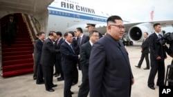 Ông Kim Jong Un tại phi trường Changi của Singapore hôm 10/6.