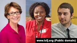 Elisabeth Palmer, Rose Wangui i Stevan Dojčinović (Foto: Međunarodni centar za novinare - ICFJ)