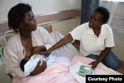 Paul (right) says the policy of exclusive breastfeeding faces severe challenges in South Africa (Photo:D.Taylor)