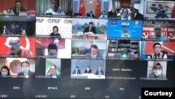 အာရွနိုင္ငံေရးပါတီမ်ား online အစည္းအ၀ေး (ဓာတ္ပံု - online screenshot)