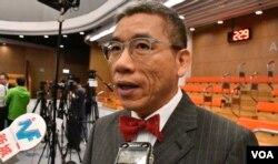 香港嶺南大學公共管治研究部主任李彭廣。(美國之音湯惠芸攝)