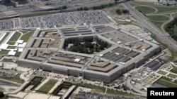 FILE - A photo shows an aerial view of the Pentagon building in Washington, June 15, 2005.