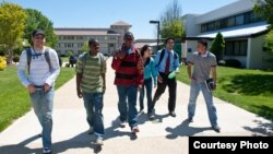 Students at Montgomery College, a junior college in Maryland.