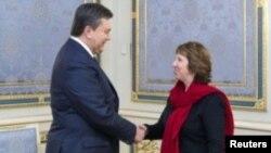 Віктор Янукович і Катрін Ештон