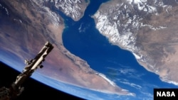 "European Space Agency astronaut Samantha Cristoforetti took this photograph from the International Space Station. Cristoforetti wrote, ""A spectacular flyover of the Gulf of Aden and the Horn of Africa. (Image Credit: NASA/ESA/Samantha Cristoforetti)"