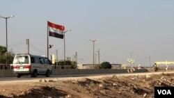 Syrian regime control point near Aleppo