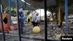 """Детский сад в Израиле, обстреляный """"Исламским джихадом"""""""