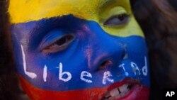 یک معترض مخالف دولت ونزوئلا