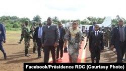 Rais Tshisekedi akiwa katika ziara Goma.
