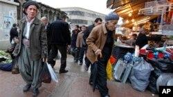 伊拉克北部库尔德自治区一市场