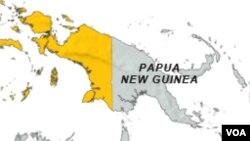 Peta Papua dan Papua Nugini.