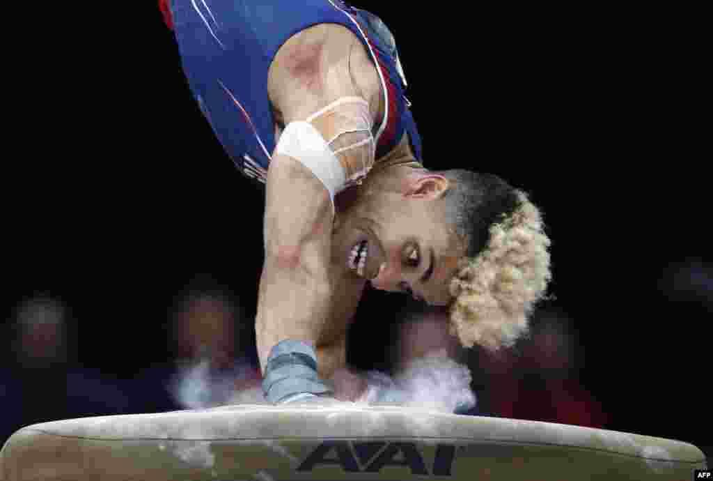 កីឡាករ Donothan Bailey ប្រកួតសម្រាប់ពានរង្វាន់ U.S. Gymnastics Championships កាលពីថ្ងៃទី១៨ ខែសីហា ឆ្នាំ២០១៨ នៅក្នុងក្រុង Boston រដ្ឋ Massachusetts។